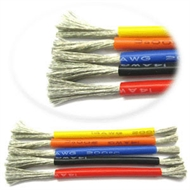 Silicone wire 22AWG 0.08 - black (½m)